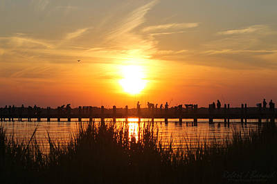 Photograph - Walking The Bridge At Sunset by Robert Banach
