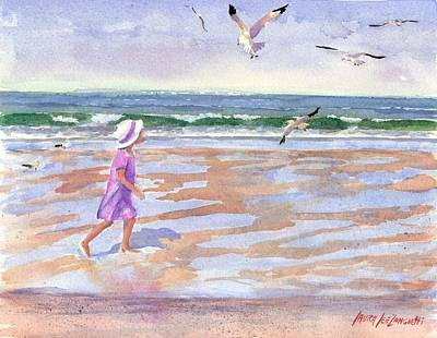 Cape Cod Painting - Walking The Cape by Laura Lee Zanghetti