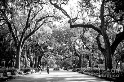 Photograph - Walking The Dog At Forsyth Park by John Rizzuto