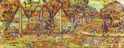Painting - Walking The Dog 4 by Mark Howard Jones