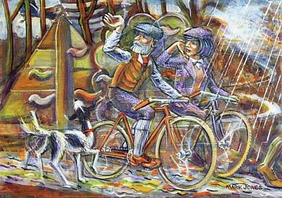 Painting - Walking The Dog 3 by Mark Howard Jones