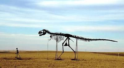 Robert Morrissey Photograph - Walking The Dog South Dakota by Robert Morrissey