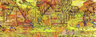 Painting - Walking The Dog 5 by Mark Howard Jones