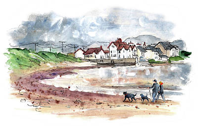 Painting - Walking The Dogs On Anglesey by Miki De Goodaboom