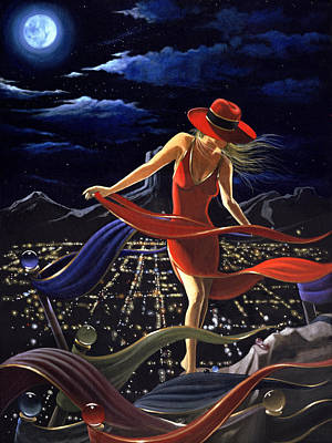Painting - Walking The Edge by Victor Ostrovsky