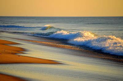 Undertow Photograph - Walking The Golden Seashore by Dianne Cowen
