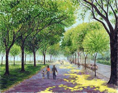 Painting - Walking The Mall by Jean Ehler