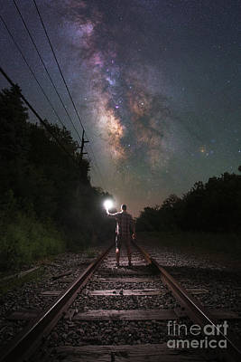 Photograph - Walking The Tracks  by Michael Ver Sprill