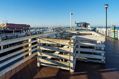 Photograph - Walking The Wharf by Derek Dean