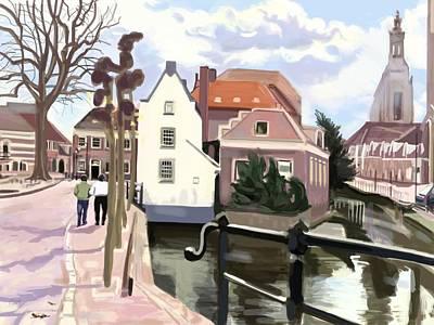 Walking Through Amersfoort Art Print by Plum Ovelgonne