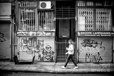 Photograph - Walking Through The Bowery by John Rizzuto