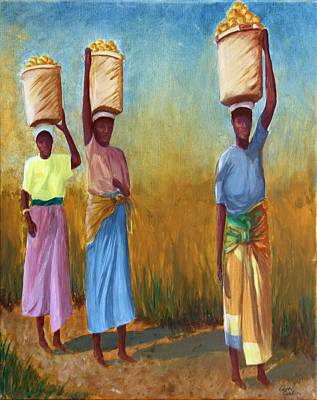 Dignified Painting - Walking To Market by Carol Cocking