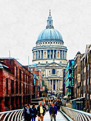 Photograph - Walking To St Paul's Cathedral by Dorothy Berry-Lound