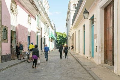 Photograph - Walking To Work Havana by Sharon Popek