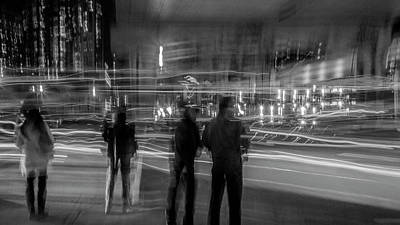 Photograph - Walking Toronto At Night by David Pantuso