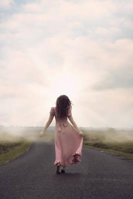 Asphalt Photograph - Walking Towards The Sun by Joana Kruse