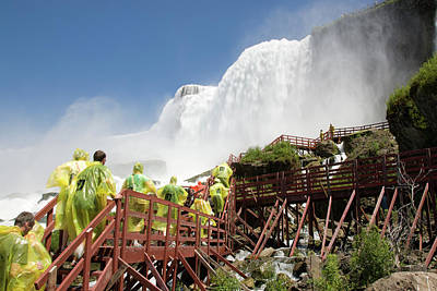 Photograph - Walking Up Below Niagara Falls by Jeff Folger