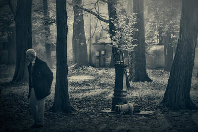 Photograph - Walking With The Dog by Roberto Pagani