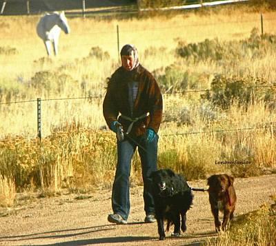 Walking The Dogs - Wyoming Art Print