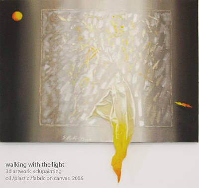 Mixed Media - Walking With The Light  by Saadi Babely