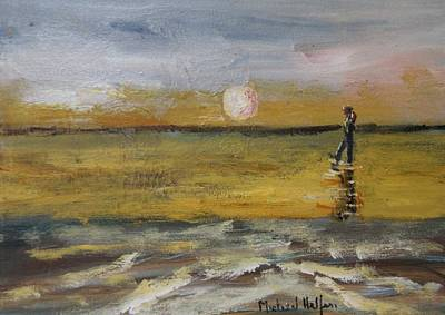 Painting - Walking With The Moon by Michael Helfen