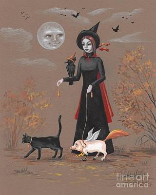 Painting - Walking With The Pets  by Margaryta Yermolayeva