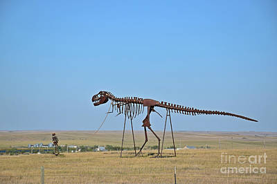 Photograph - Walking Your T-rex by Kathy M Krause