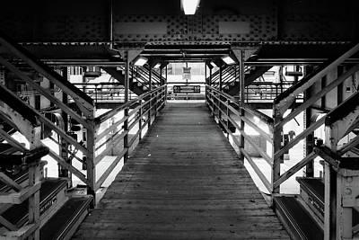 Photograph - Walkwak To The Ell Trains by John McArthur