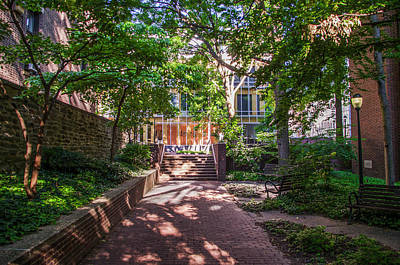 Library Digital Art - Walkway Along Dietrich Library - University Of Pennsylvania by Bill Cannon