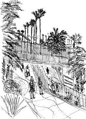 Walkway Drawing - Walkway by Ben Bohnsack