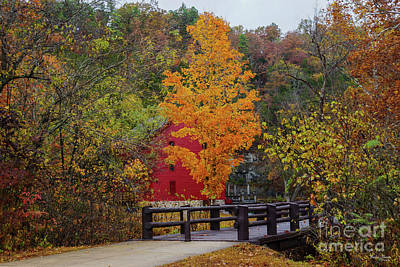 Photograph - Walkway Bridge To Alley Mill by Jennifer White