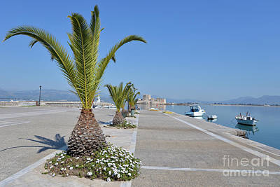 Photograph - Walkway In Nafplio Town by George Atsametakis