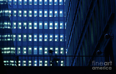 Photograph - Walkway Morning Blue by Jim Corwin