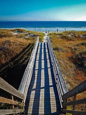 Gerald Monaco Photograph - Walkway Over The Dunes by Gerald Monaco