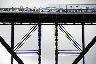 Joseph Duba Photograph - Walkway Over The Hudson 2009 Opening Day Celebration by Joseph Duba