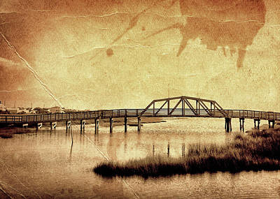 Photograph - Walkway Over The Sound, Topsail Beach, North Carolina by John Pagliuca