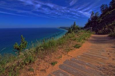 Photograph - Walkway To Beautiful Sleeping Bear Dunes by Dan Sproul