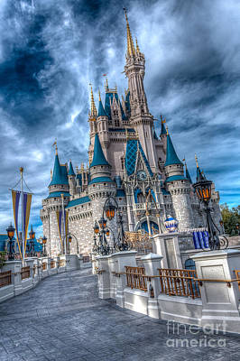 Walkway To Cinderellas Castle Art Print