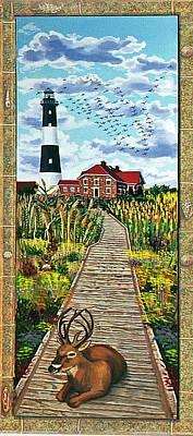 Walkway To Fire Island Lighthouse Art Print by Bonnie Siracusa