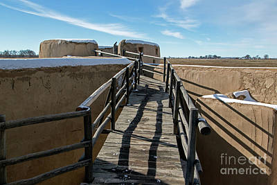 Photograph - Walkway To Turret At Bents Old Fort by Fred Stearns