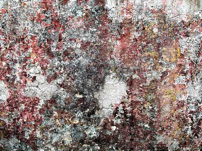 Photograph - Wall Abstract 103 by Maria Huntley
