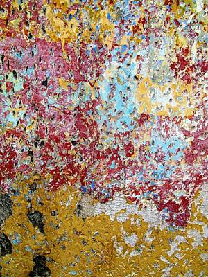 Photograph - Wall Abstract 123 by Maria Huntley