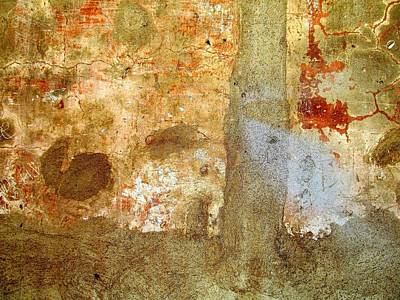 Photograph - Wall Abstract 156 by Maria Huntley