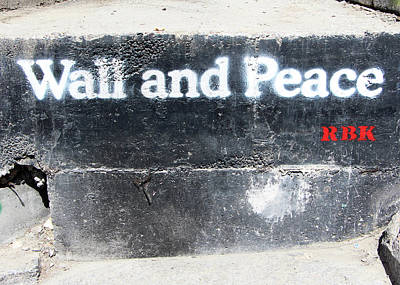 Photograph - Wall And Peace by Munir Alawi