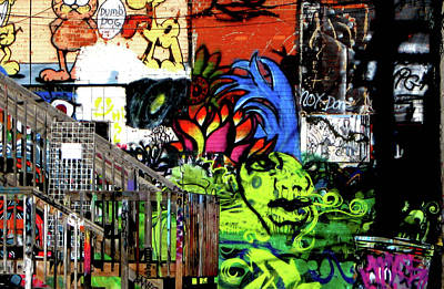 Photograph - Wall Art Graffiti Alley by Nadalyn Larsen