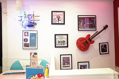 Photograph - Wall At The Happy Days Diner by Hugh Smith
