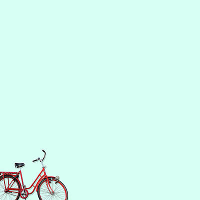 Minimal Wall Art - Photograph - Wall Bici by Caterina Theoharidou