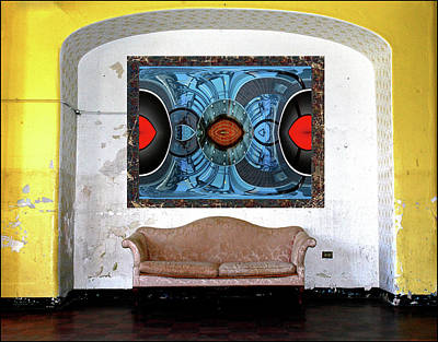 Digital Art - Wall, Couch, Photograph by Constance Lowery