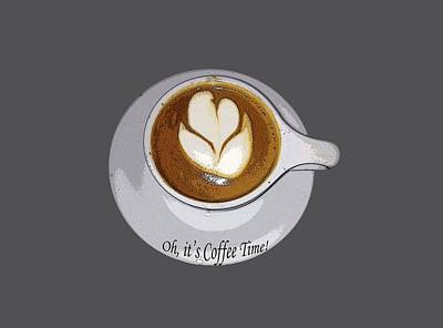 Wall Decor Oh, It's Coffee Time Art Print