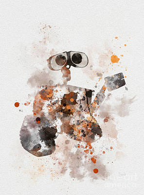 Disney Mixed Media - Wall-e by Rebecca Jenkins